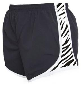 Womens Novelty Velocity Zebra Print Shorts