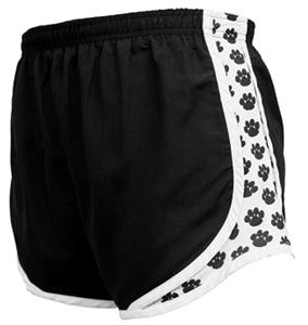 Womens Novelty Velocity Paw Print Shorts