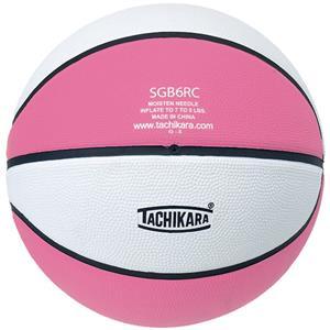 Tachikara Intermed. Pink/White Rubber Basketball
