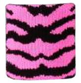Red Lion Zebra/Tiger Stripe Pink Wristbands
