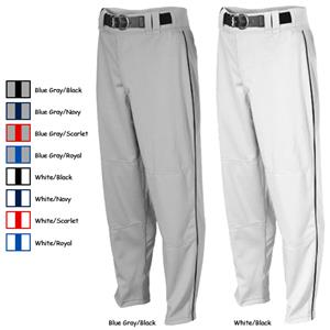 Rawlings Adult Relaxed Fit Baseball Pants w/Piping