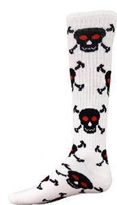 Red Lion Skull n&#39; Crossbones Athletic Socks