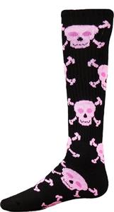 Red Lion Black/Pink Skull n' Crossbones Sock