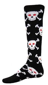Red Lion Black Skull n' Crossbones Socks