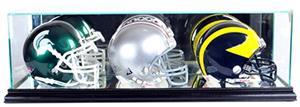 "Perfect Cases ""Triple Mini Helmet"" Display Cases"