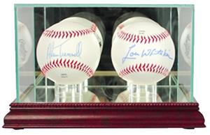"Perfect ""Double Baseball"" Display Cases"