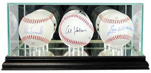 "Perfect ""Triple Baseball"" Display Cases"