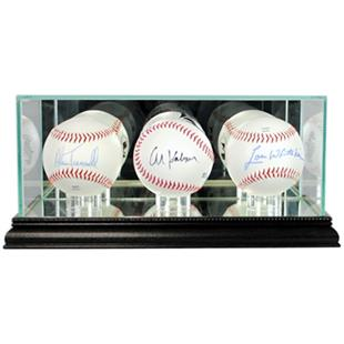 "Perfect Cases ""Triple Baseball"" Display Cases"