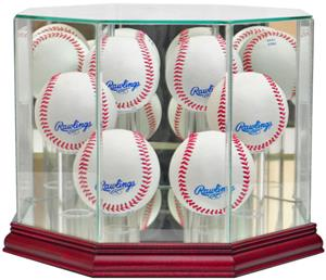 "Perfect Cases ""6 Baseball"" Octagon Display Cases"