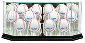 "Perfect Cases ""12 Baseball"" Octagon Display Cases"