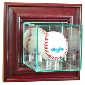 "Perfect ""Baseball"" Wall Mounted Display Cases"
