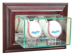 "Perfect ""Double Baseball"" Wall Display Cases"