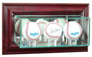 "Perfect ""Triple Baseball"" Wall Display Cases"