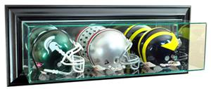 "Perfect ""Triple Mini Football Helmet"" Wall Display"