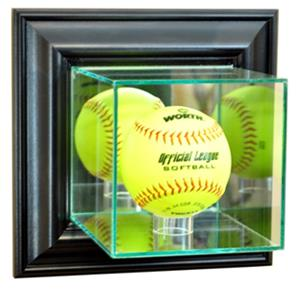 "Perfect ""Softball"" Wall Mounted Display Cases"
