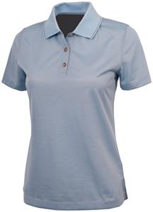 Womens Knit Poly Micro Stripe Polo Shirts