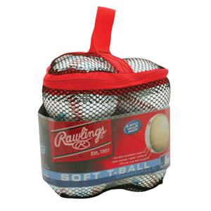 Rawlings Mesh bag with 6 TVB T-Ball Baseballs