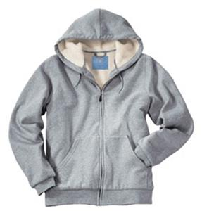 Charles River Womens Sherpa Hooded Sweatshirt Gray
