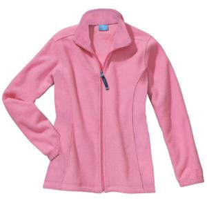 Womens Voyager Fleece Jacket Pink Cancer Awareness