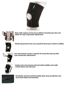 Zamst MK-1 Light Support Wrap-Type Knee Support