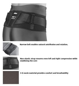 Zamst ZW-1 Light Support Narrow Waist Belt Support