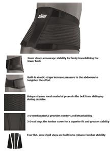 Zamst ZW-7 Strong Support Firm Lumbar Belt Support