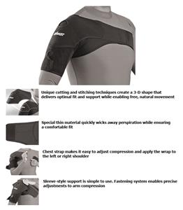 Zamst Sleeve-Style Support Shoulder Wrap