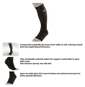 Zamst LC-1 Open Toe Compression Calf Sleeve