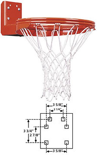 E19900 FT170DR Double Rim Rear Mount Fix Basketball Goal