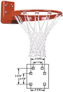 FT187R Super Duty Rear Mount Flex Basketball Goal