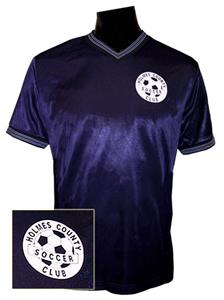 Pre-Numbered NAVY Soccer Jerseys W/ WHITE LOGO/ #