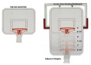 Six-Shooter Youth Adjust Training Basketball Goal