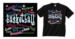 ImageSport Basketball Graffiti Tshirt Gifts