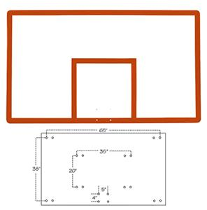 "Official 42""x72"" Fiberglass Basketball Backboard"