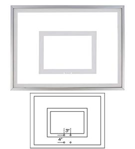 36&quot;x48&quot; Framed Acrylic Basketball Backboard