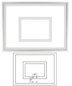"36""x 54"" Framed Acrylic Basketball Backboard FT215"