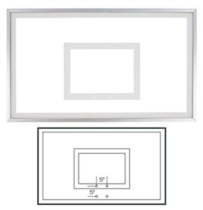 "36""x 60"" Framed Acrylic Basketball Backboard FT220"