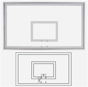 "42""x72"" Framed Acrylic Basketball Backboard FT222"