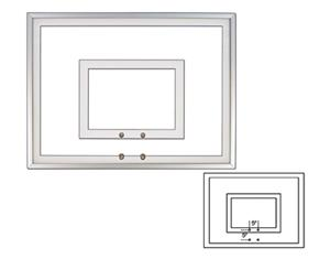 "36""x54"" Tempered Glass Basketball Backboards FT216"