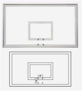 "42""x72"" Response Temper Glass Basketball Backboard"
