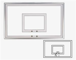"36""x60"" Tempered Glass Basketball Backboards FT221"