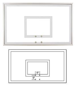 "36""x60"" Response Temper Glass Basketball Backboard"