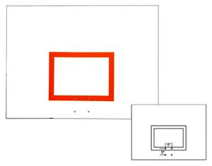 "42""x60"" Rectangular Aluminum Basketball Backboard"