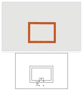 "42""x72"" Rectangular Steel Basketball Backboards"