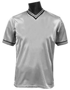 Pre-#ed SILVER Soccer Jerseys W/BLACK #s