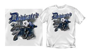 "Coed Soccer ""Dedicated 24/7"" T-shirts"