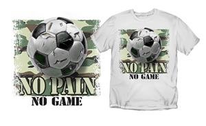 "Coed Soccer ""No Pain No Game"" T-shirts"