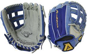 """ARA93 11"""" Blue Youth Mesh Back Glove"""