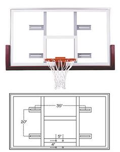 Unbreakable Conversion Glass Basketball Backboard