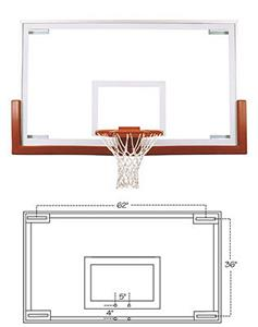 Official Competition Glass Basketball Backboard